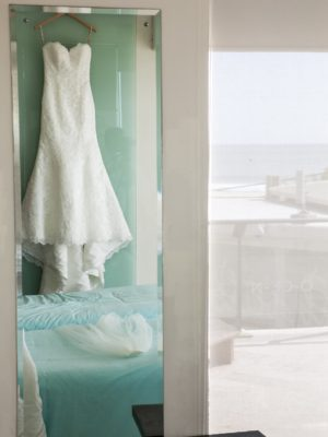Beachfront Wedding - Beachfront Venue with White Wedding Dress